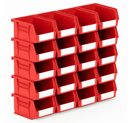 Size 2 Linbins in Red