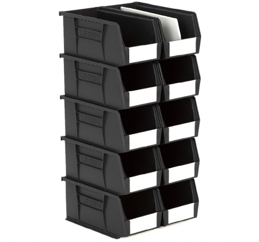 Size 5 Linbins in Black Recycled Plastic