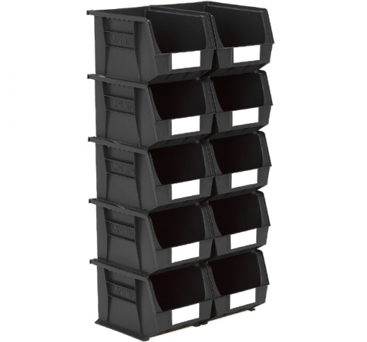 Size 6 Linbins in Black Recycled Plastic