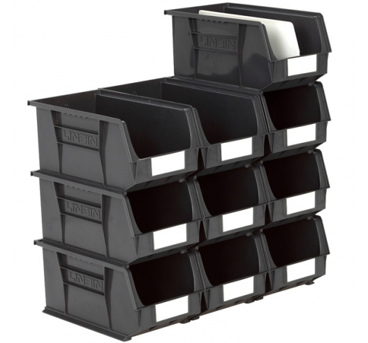 Size 7 Linbins in Black Recycled Plastic