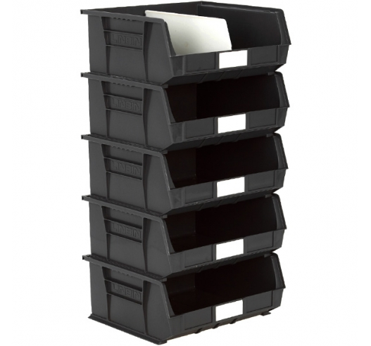 Size 8 Linbins in Black Recycled Plastic