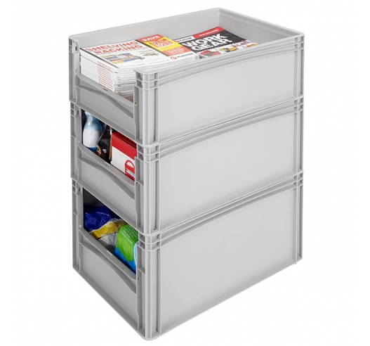 Open End Euro Picking Container stacked example