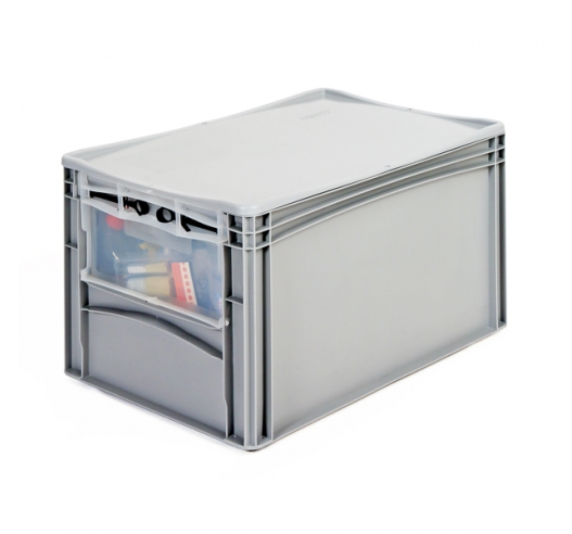 Open End Euro Picking Container with Translucent Door