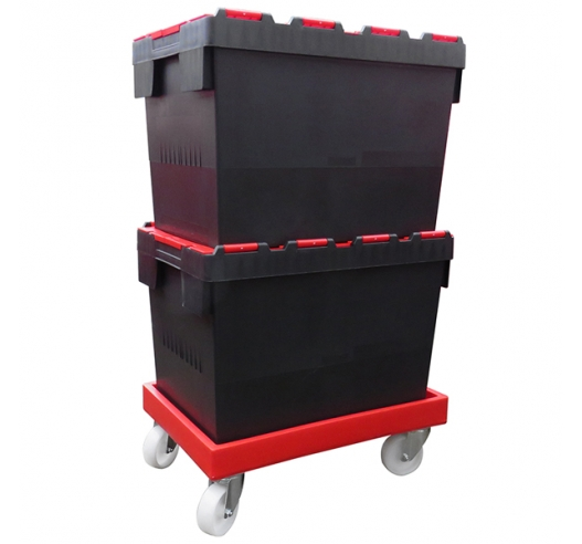 Plastic Crates on Dolly