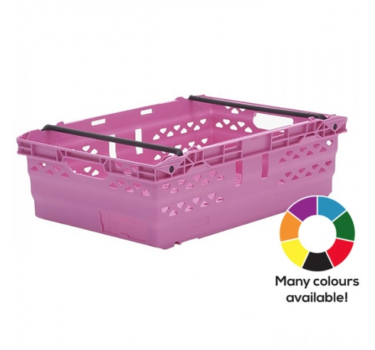 Pink Supermarket Style Bale Arm Crates