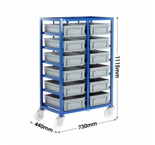 Small Parts Tray Rack Dimensions
