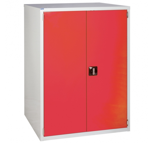 Euroslide cabinet with 1 cupboard in red