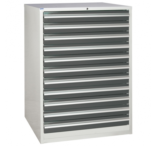Euroslide cabinet with 11 drawers in grey