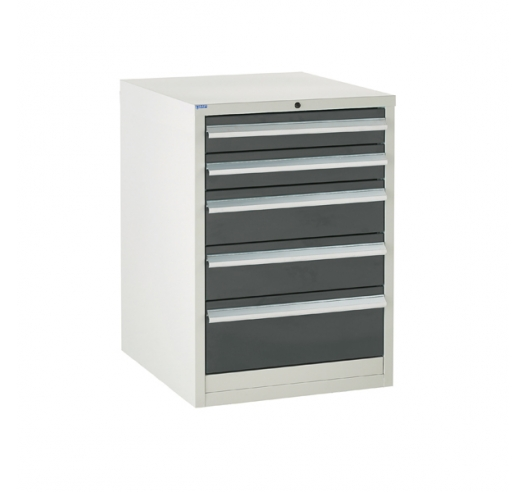 Euroslide cabinet with 5 drawers in grey