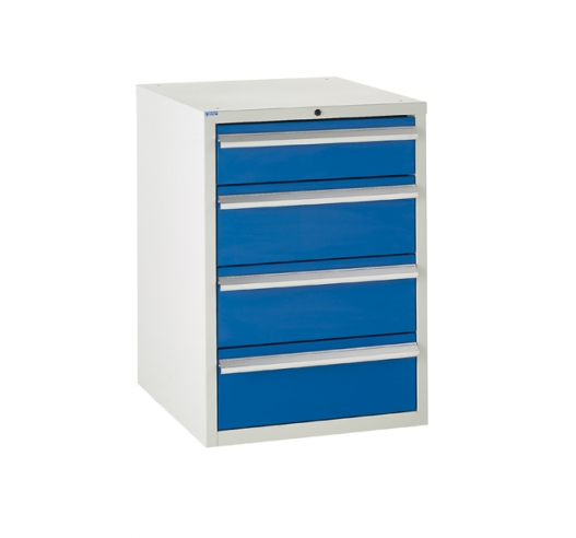 Euroslide cabinet with 4 drawers in blue