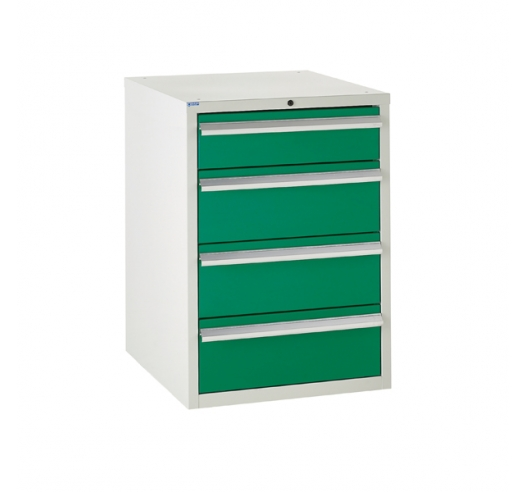 Euroslide cabinet with 4 drawers in green