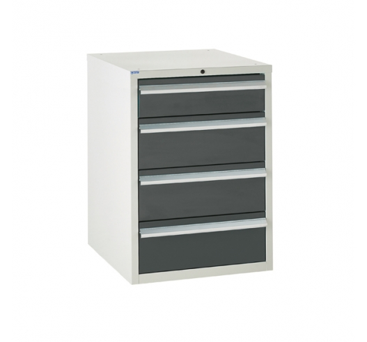 Euroslide cabinet with 4 drawers in grey