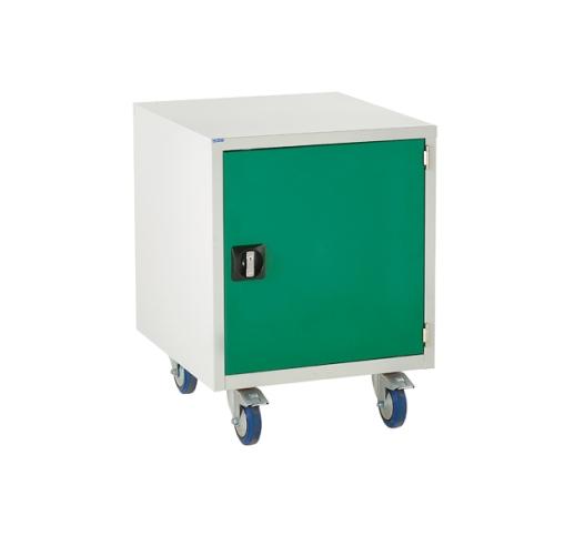 Under bench Euroslide cabinet with 1 cupboard in green