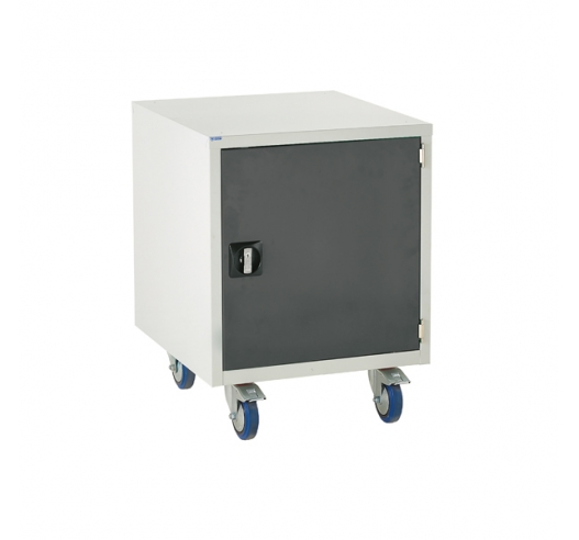 Under bench Euroslide cabinet with 1 cupboard in grey