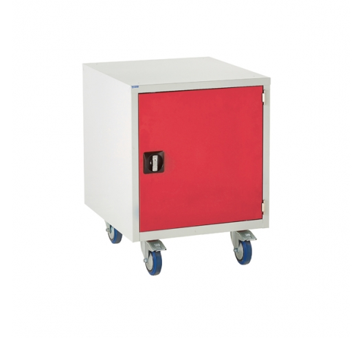 Under bench Euroslide cabinet with 1 cupboard in red