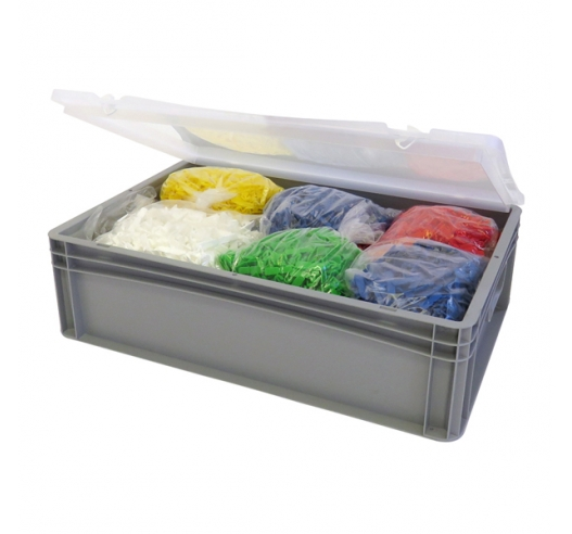 Euro container case with contents