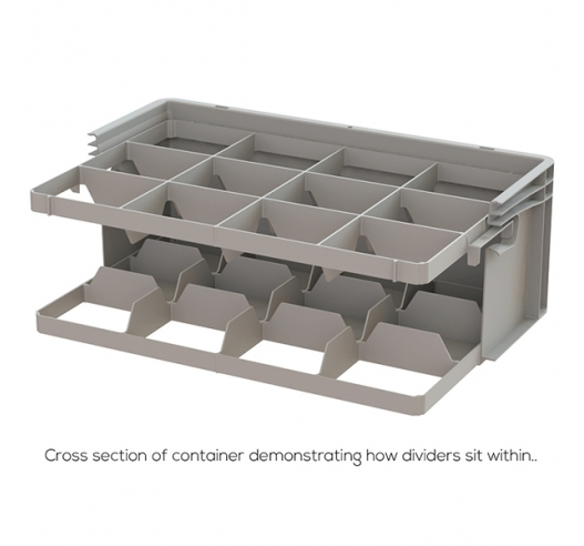 Cross Section of Container with Dividers