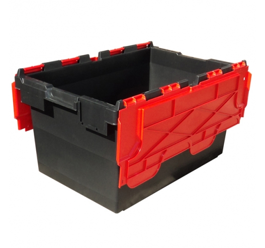 Black and Red heavy duty storage containers