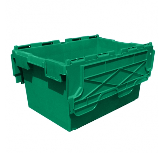 Large Green Plastic Crates with 80 Litres Capacity