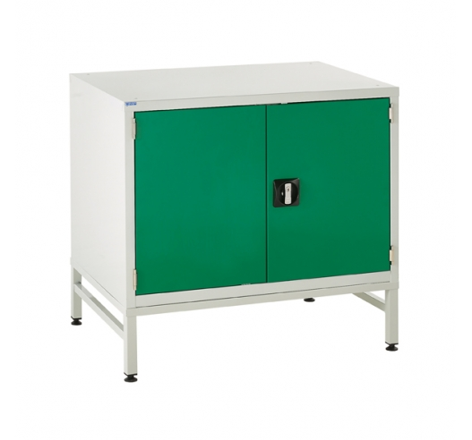 Under bench Euroslide cabinet and stand with 1 cupboard in green
