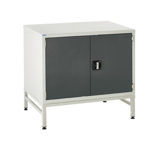 Under bench Euroslide cabinet and stand with 1 cupboard in grey