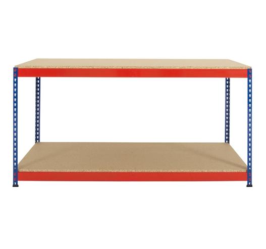 Boltless Rivet Workbench in Blue and Orange