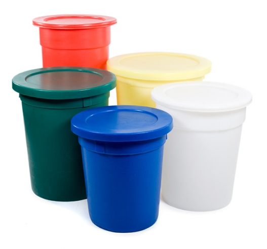 Tapered bins and lids example