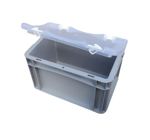 Open clear lid on basicline case