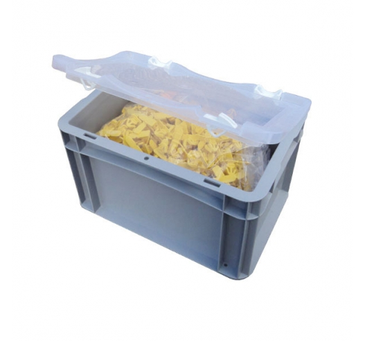 Case with clear lid and contents