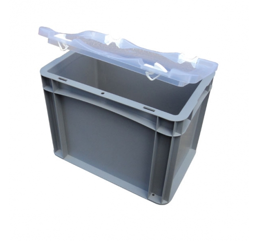 Empty case with clear lid