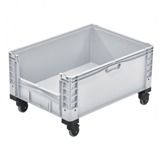 Open End Euro Picking Container with Wheels