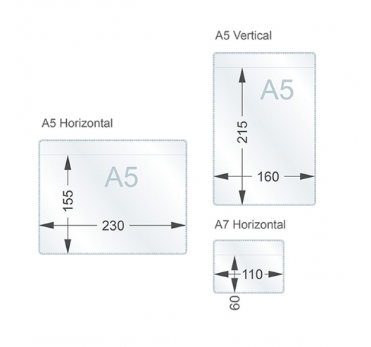 A5 and A7 dimensions