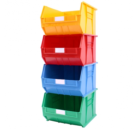 Stack of 4 Coloured Size 10 Linbins