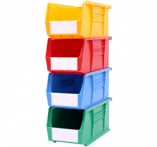 Stack of Coloured Size 5 Linbins