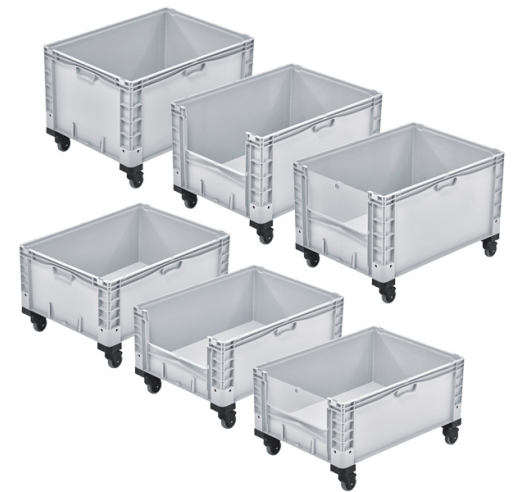 Basicline Containers Range with Wheels