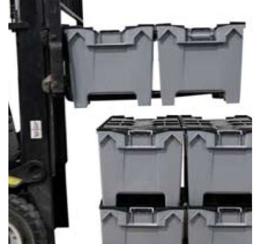 HogBox can be used on a fork lift due to its convenient pallet feet