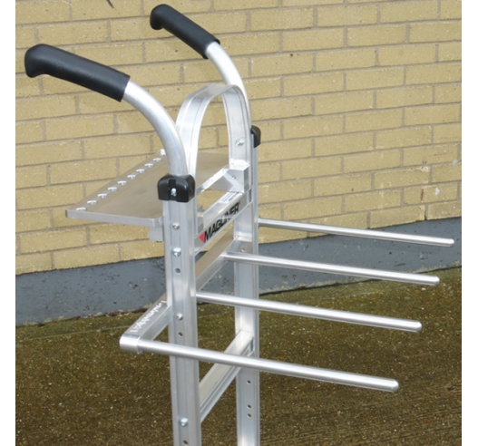Welded Support Arms for C-Stands on Cart