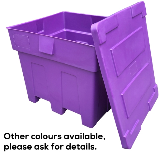 Purple and Other Colours Available on Large Plastic Pallet Boxes