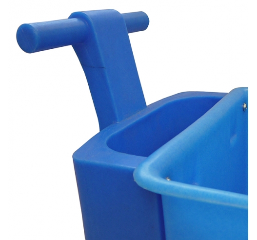 Handle on blue truck