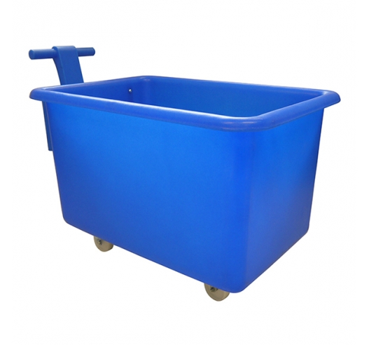 320 litre mobile truck in blue with handle