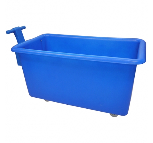 455 litre mobile truck in blue with handle