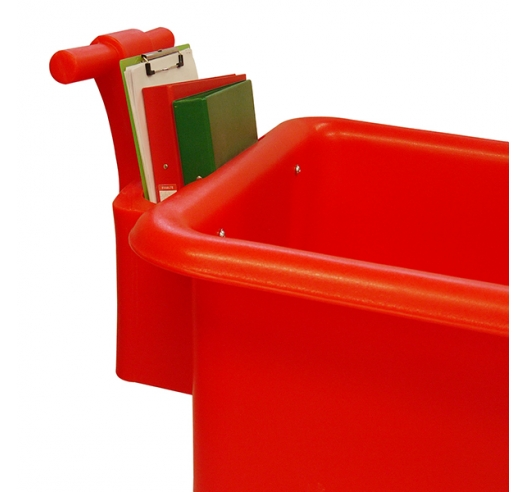 Handle on red truck