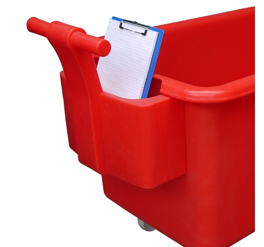 Red Handle on container truck