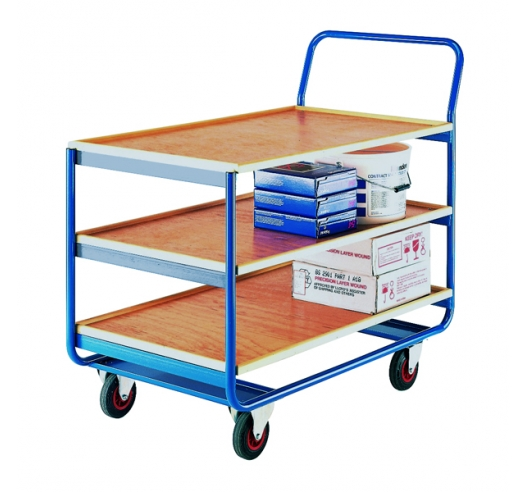 Trolley with 3 Plywood Shelves