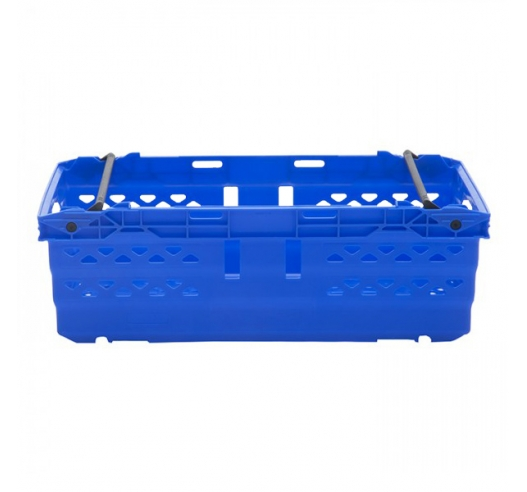 Blue bale arm crate