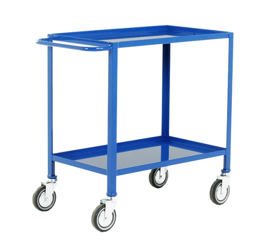 2 Tier Tray Trolley in Blue