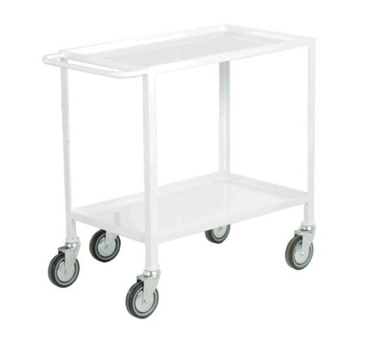 2 Tier Trolley In White