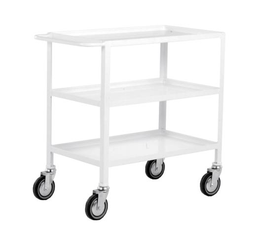 3 Tier Trolley In White