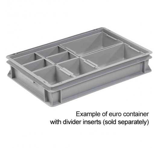 Example of dividers in container