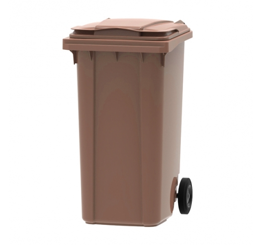 Brown 240 litre wheelie bin